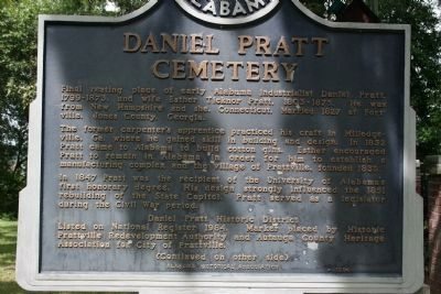 Daniel Pratt Cemetery / George Cooke Marker Side A image. Click for full size.