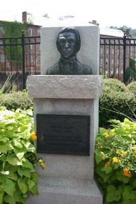 Bust of Daniel Pratt on display in Heritage Park in Prattville image. Click for full size.