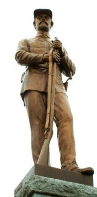 Fayette County Civil War Memorial Statue image. Click for full size.