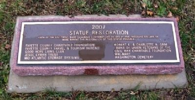 Fayette County Civil War Memorial Restoration image. Click for full size.