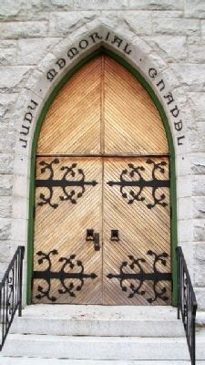 The Judy Memorial Chapel Entry image. Click for full size.