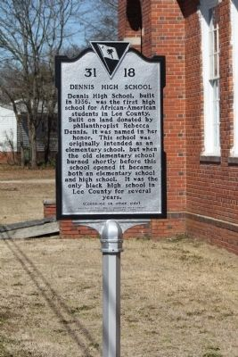 Dennis High School Marker image. Click for full size.