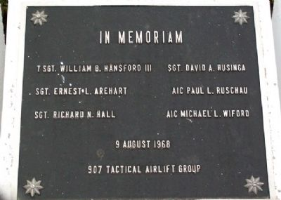 907 TAG C-119G Accident Memorial Marker image. Click for full size.