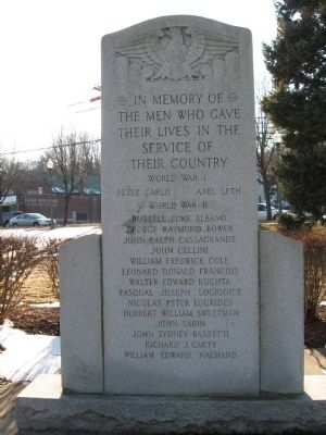 Allingtown World War I Monument image. Click for full size.