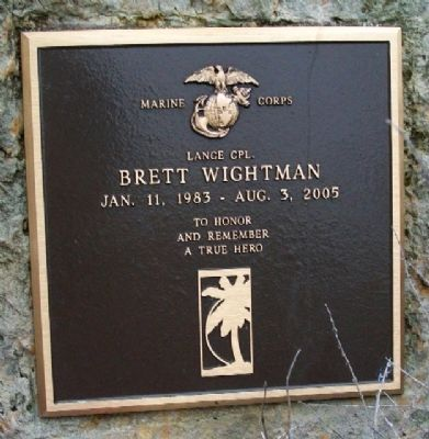 LCpl Brett Wightman Memorial image. Click for full size.