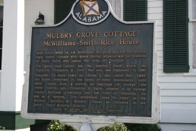Mulbry Grove Cottage Marker image. Click for full size.