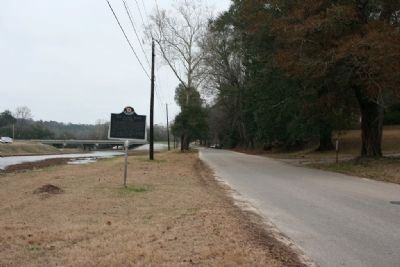 Old Plank Road & Marker looking in the direction the road headed toward the Alabama River. image. Click for full size.