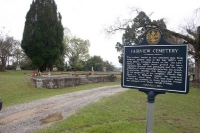 Fairview Cemetery & Marker image. Click for full size.