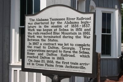 The Alabama Tennessee River Railroad Marker image. Click for full size.