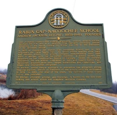 Rabun Gap – Nacoochee School Marker image. Click for full size.