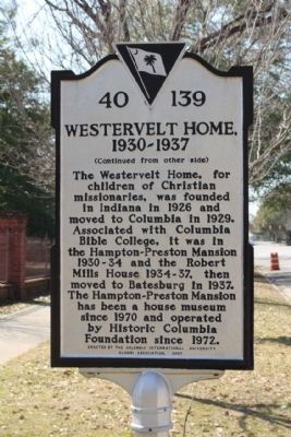 Westervelt Home, 1930 - 1937 Marker image. Click for full size.