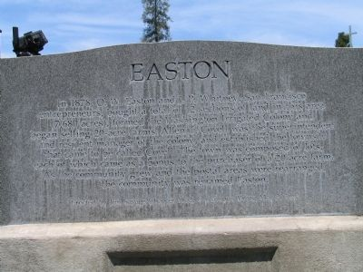 Easton side of the Marker image. Click for full size.
