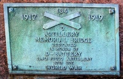 D-134 Artillery Memorial Bridge Marker image. Click for full size.