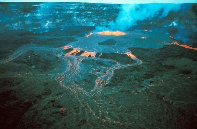 Eruption at Halema'uma'u Crater image. Click for full size.
