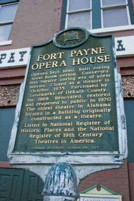 Fort Payne Opera House Marker image. Click for full size.