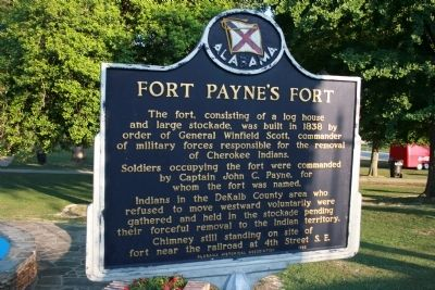 Fort Payne's Fort Marker image. Click for full size.