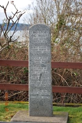 Two-Story Log House Marker image. Click for full size.