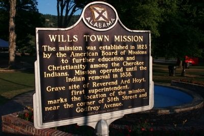 Wills Town Mission Marker image. Click for full size.
