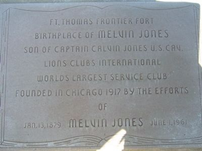 Marker to the right of the Melvin Jones International Memorial entrance. image. Click for full size.