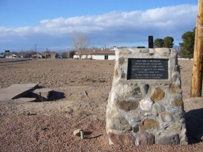 First home of Eastern Arizona College Marker image, Touch for more information
