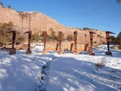 Navajo Warrior Memorial image. Click for full size.