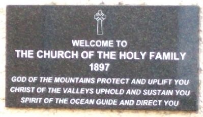 Holy Family Church Marker image. Click for full size.
