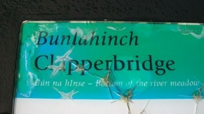 <i>Bunlahinch</i> Clapperbridge Marker image. Click for full size.