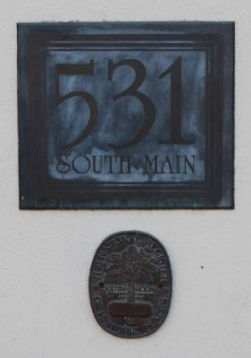 Falls Place -<br>Address Plaque and National Register Medallion image. Click for full size.