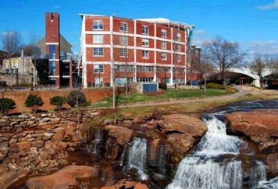 Falls Place and Reedy River Falls -<br>East (Rear) Facade image. Click for full size.