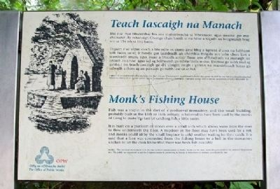 Monk's Fishing House / Teach Iascaigh na Manach Marker image. Click for full size.