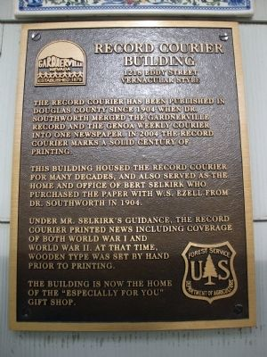 Record Courier Building Marker image. Click for full size.