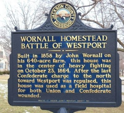 Wornall Homestead Marker image. Click for full size.