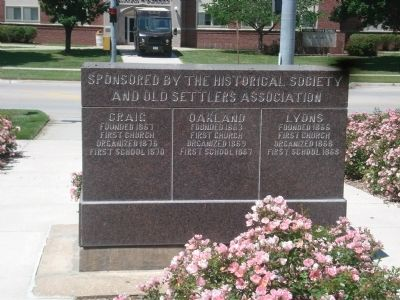 Historical Facts of Burt County Marker--East Side image. Click for full size.