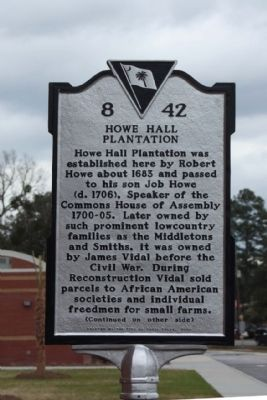 Howe Hall Plantation Marker image. Click for full size.