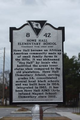 Howe Hall Elementary School Marker image. Click for full size.
