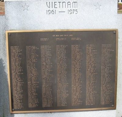Plymouth Vietnam Veterans Memorial Marker image. Click for full size.