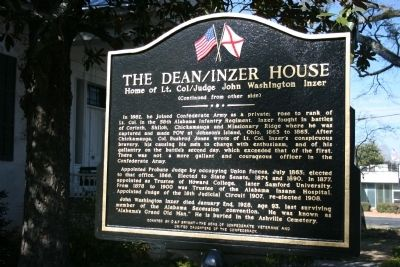 The Dean / Inzer House Marker Side B image. Click for full size.