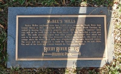 McBee's Mills Marker image. Click for full size.