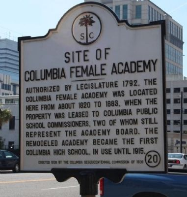 Site of Columbia Female Academy Marker image. Click for full size.