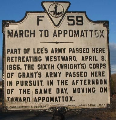March to Appomattox Marker image. Click for full size.