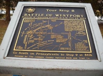 Battle of Westport Marker image. Click for full size.