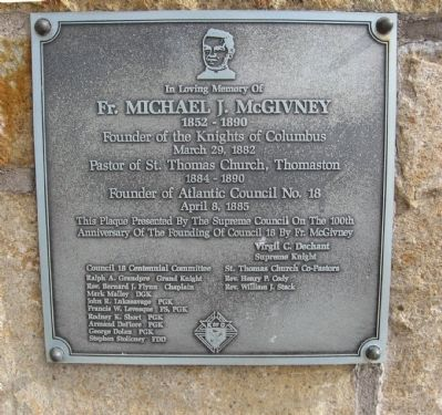 Fr. Michael J. McGivney Marker image. Click for full size.