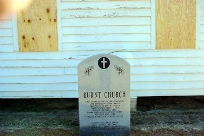 Burnt Church Marker image. Click for full size.