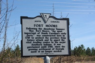 Fort Moore Marker image. Click for full size.