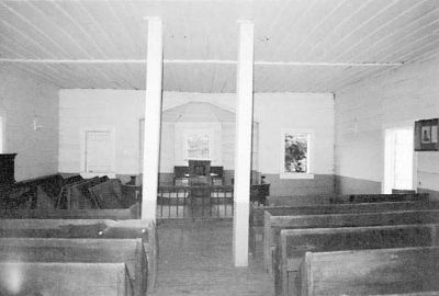 Shiloh Methodist Church interior image. Click for full size.
