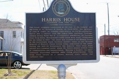 Harris House Marker (Reverse) image. Click for full size.