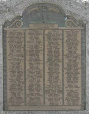 Thomaston World War I Monument image. Click for full size.