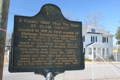 A County Older Than The State, St. Clair County Marker image. Click for full size.