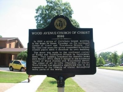 Wood Avenue Church of Christ Marker image. Click for full size.