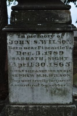 Tombstone of John S Wilson image. Click for full size.